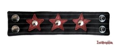 Bracelets TISSUS Rayé, Étoile de cuir + Studds.inco